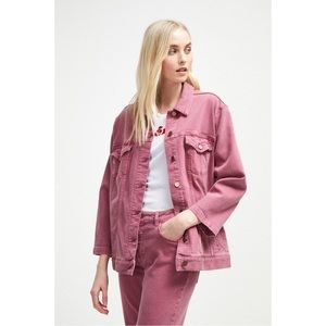 French Connection Pink Denim Jacket